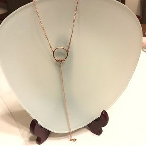Luv AJ | Full Bloom Lariat Rose Gold Necklace NWT